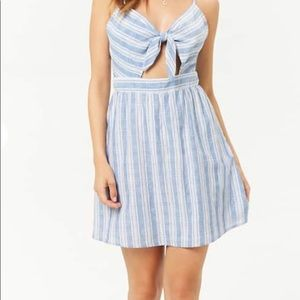 Tie Front Cut Out Dress
